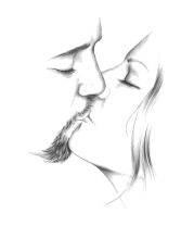 Детская футболка  A kiss for my love
