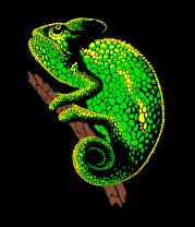 Толстовка без капюшона Древесный Хамелеон
