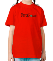 Детская футболка  Party poker