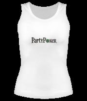 Женская майка борцовка Party poker