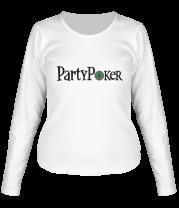 Женская футболка с длинным рукавом Party poker