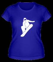 Женская футболка  Snowboard