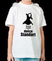 Детская футболка  Keep_calm dance standart