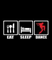 Женская майка борцовка Eat sleep dance
