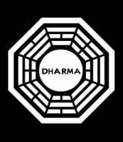 Женская майка борцовка Dharma logo (lost)