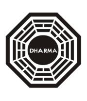 Женская футболка с длинным рукавом Dharma logo (lost)