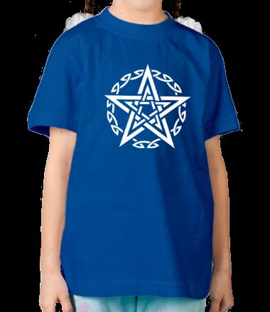 Детская футболка  Звезда и кельтский узор