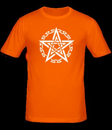 Мужская футболка  Звезда и кельтский узор