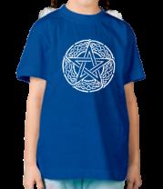 Детская футболка  Звезда пентаграмма и кельтский орнамент