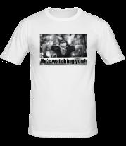 Мужская футболка  Славик наблюдает за тобой Eng