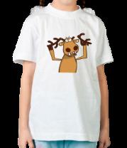 Детская футболка  Олень с обломанными рогами. Подслушано