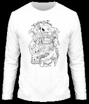 Мужская футболка с длинным рукавом Берегите яйца