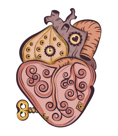 Мужская футболка  Стимпанк сердце