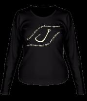 Женская футболка с длинным рукавом Плохой день (свет)