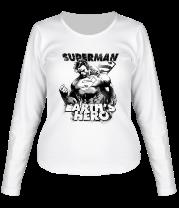 Женская футболка с длинным рукавом Герой Земли