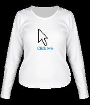 Женская футболка с длинным рукавом Click Me