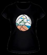 Женская футболка  Пляжный Волейбол