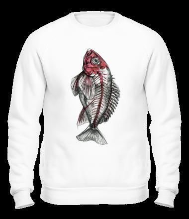 Толстовка без капюшона Красная рыба