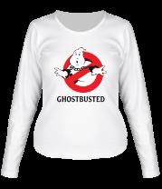 Женская футболка с длинным рукавом Привидение в наручниках