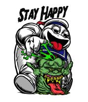 Женская футболка с длинным рукавом Stay Happy