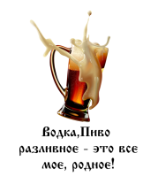 Толстовка без капюшона Водка, пиво разливное