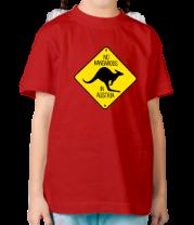 Детская футболка  Нет кенгуру в Австрии