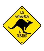 Толстовка без капюшона Нет кенгуру в Австрии