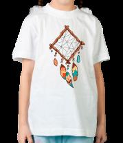 Детская футболка  Ромбовидный ловец снов