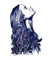 Детская футболка  Нарисованная девушка