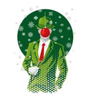 Толстовка без капюшона Рождественский Незнакомец