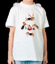 Детская футболка  Рождественские пёсики
