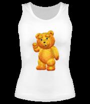 Женская майка борцовка Медведь