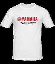 Мужская футболка  Yamaha. Revs your heart.