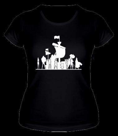 Женская футболка  Пираты Соломенной Шляпы