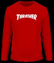 Мужская футболка с длинным рукавом  Thrasher skate life