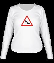 Женская футболка с длинным рукавом Женщина за рулём