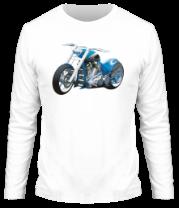 Мужская футболка с длинным рукавом Мотоцикл