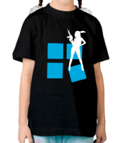 Детская футболка  Armed Woman