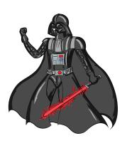 Женская майка борцовка Darth Vader red laser pedang