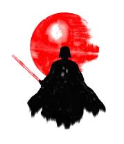 Женская майка борцовка Dark | Darth vader, Watercolour