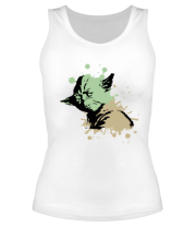 Женская майка борцовка Yoda