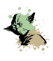 Женская футболка с длинным рукавом Yoda