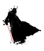 Женская майка борцовка Darth Vader blots