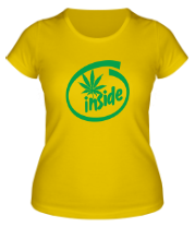 Женская футболка  Marijuana Inside