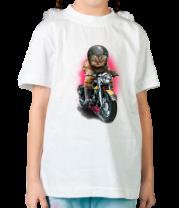 Детская футболка  Котогонщик