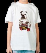 Детская футболка  Пёс-боксёр