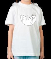 Детская футболка  Падающая киса