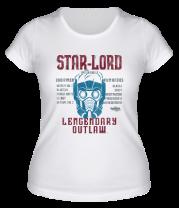 Женская футболка  Звёздный лорд