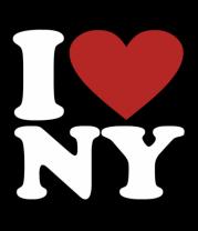 Мужская футболка  I love NY