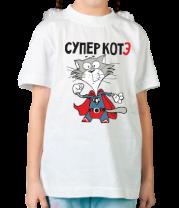 Детская футболка  Супер котэ